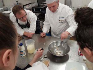 Sphere class The Upper Room Cooking school modern molecular cooking