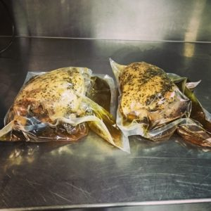 Sous Vide lamb shoulder ready to be cooked