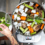 cooking stock soup and sauces on the Breville Polyscience control freak induction cooktop