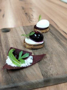 Molecular cooking canapes