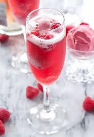 Rhubarb Mimosa sous vide cocktail